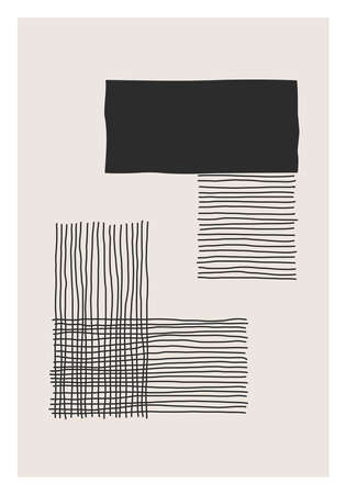 Trendy abstract creative minimalist artistic hand drawn composition Stock Illustratie