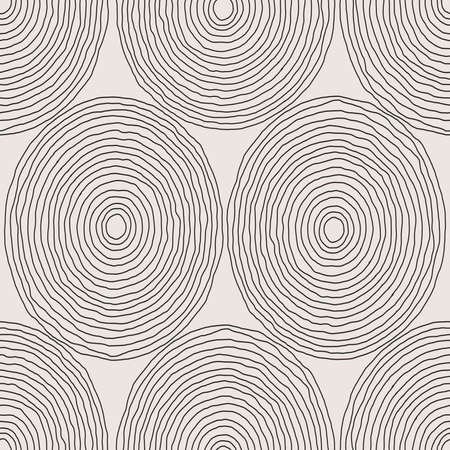 Trendy minimalist seamless pattern with abstract creative artistic hand drawn composition