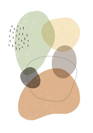 Minimalist design poster with abstract organic shapes composition 版權商用圖片 - 153110949