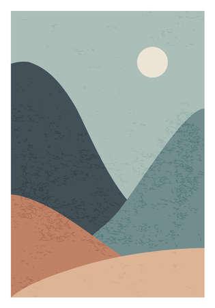 Trendy minimalist landscape abstract contemporary collage design 版權商用圖片 - 153110952