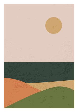 Trendy minimalist landscape abstract contemporary collage design 版權商用圖片 - 153110972