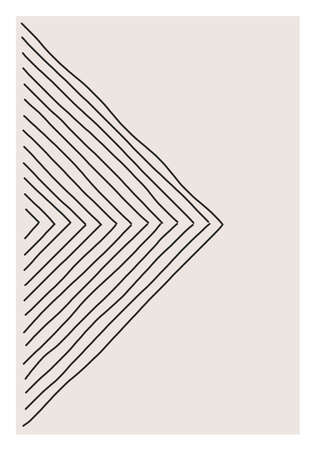 Trendy abstract creative minimalist artistic hand drawn composition Vectores