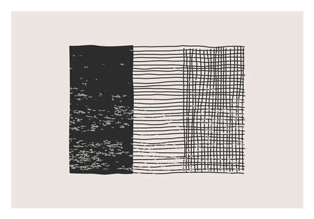 Trendy abstract aesthetic creative minimalist artistic hand drawn composition