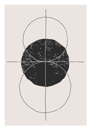 Trendy abstract creative minimalist artistic hand drawn composition 向量圖像