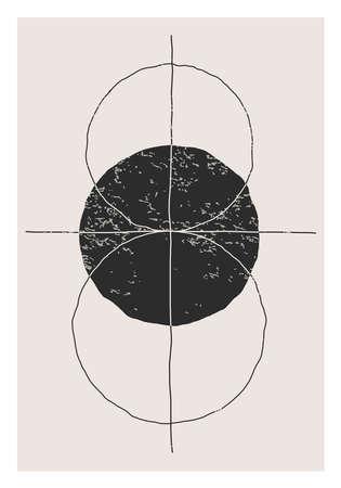 Trendy abstract creative minimalist artistic hand drawn composition  イラスト・ベクター素材
