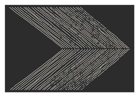 Trendy abstract aesthetic creative minimalist artistic hand drawn composition Vektorové ilustrace