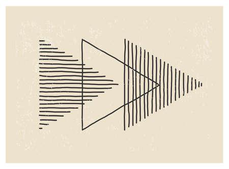 Trendy abstract creative minimalist artistic hand drawn composition Illusztráció