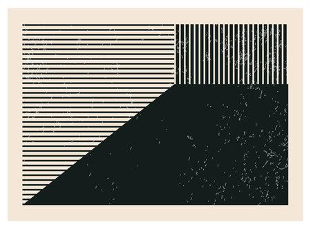 Trendy abstract creative minimalist artistic hand drawn composition Ilustracja