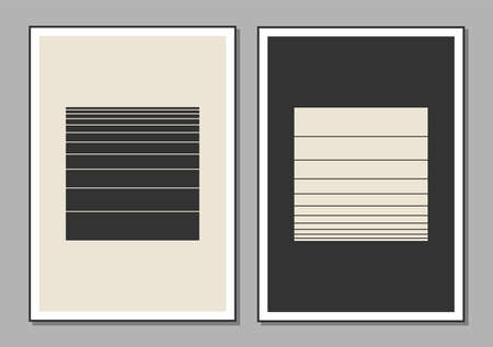 Set of minimal 20s geometric design posters