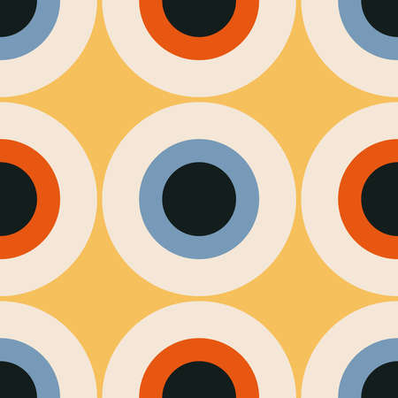 Trendy minimalist seamless pattern with abstract creative geometric composition