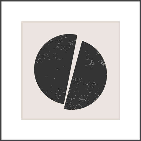 Trendy abstract creative minimalist poster artistic composition