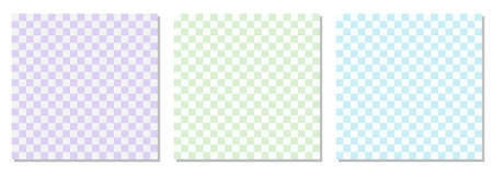 Set of checkered retro 1970s style abstract backgrounds
