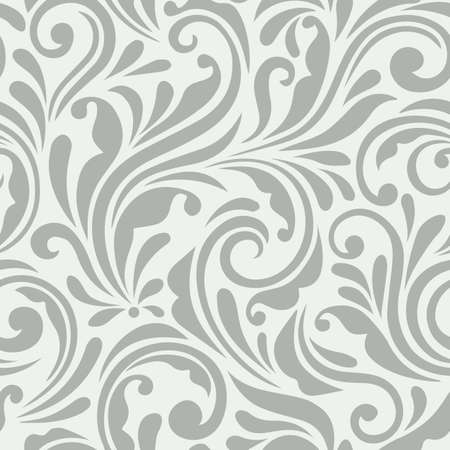 Floral seamless pattern. Ornamental design with swirl effect. A seamless wallpaper and background for fabric, textile and paper.