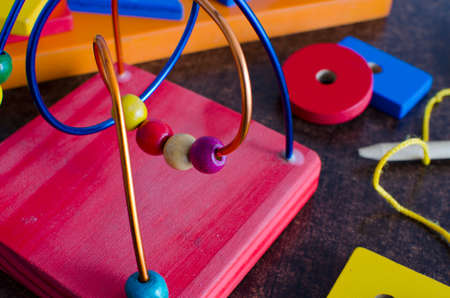 educational game in primary colors for children
