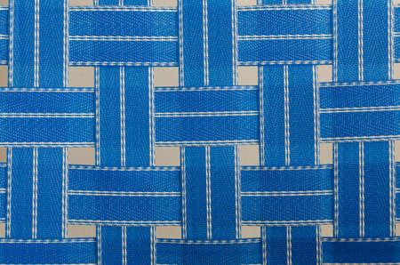 blue plastic fiber fabric