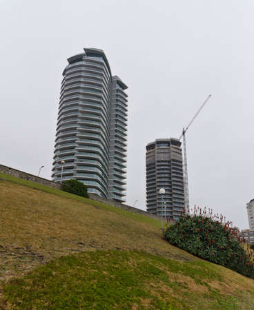 Mar del Plata, Argentina July 1, 2018: Maral Explanada towers, work of the architect Cesar Pelli
