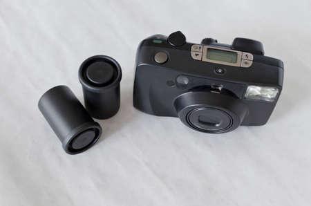 old compact analog camera Foto de archivo