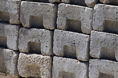 stacked concrete blocks Stock Photo