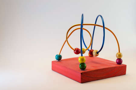 didactic game for children with grey background.