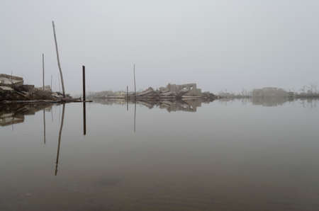 flood in Epecuen, Buenos Aires, Argentina Stock Photo