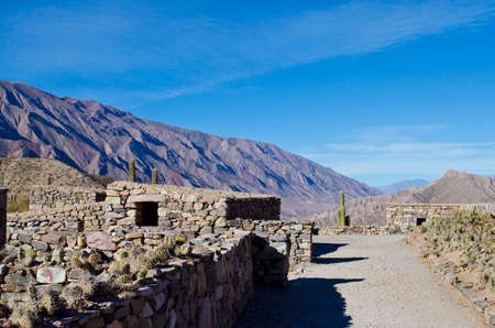 old indigenous constructions in La Quebrada de Humahuaca
