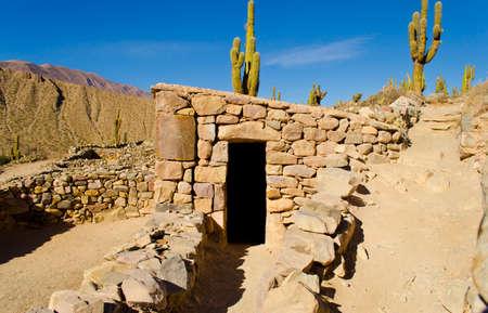 old indigenous constructions in La Quebrada de Humahuaca Standard-Bild - 119226651