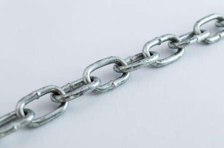 Diagonal metal chain Stock fotó