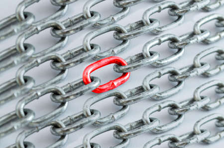 Background of chains with colors and reflections. Stok Fotoğraf