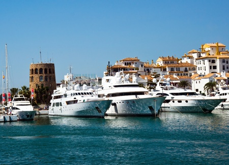 mediterranean luxury port in spain. puerto banus. Summer 2011.