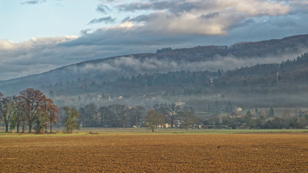 countrylife: Countryside in Evian-les-Bains in France in winter in the New year