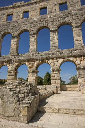 roman amphitheater: Wall fragment of antique Roman amphitheater in Pula