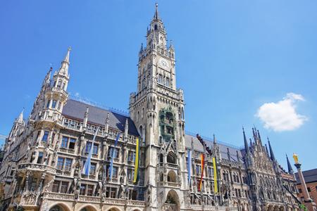 Munich city hall at Marienplatz in summer 版權商用圖片
