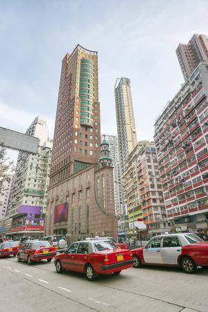 striping: Heavy traffic in Hong Kong (Kowloon peninsula) Stock Photo