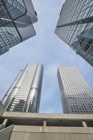 striping: Skyscraper skywards view in central Hong Kong (Hong Kong island)