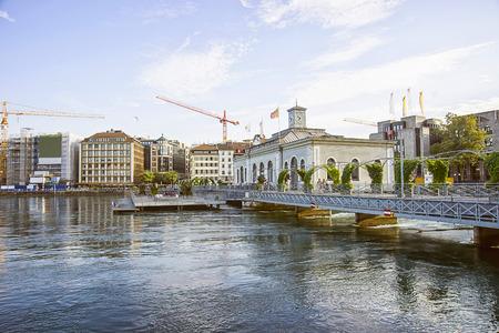 geneva: Geneva embankment in summertime