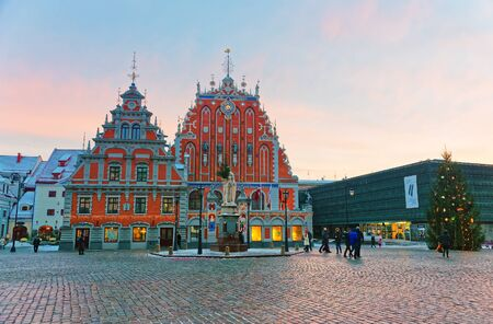 guild hall: Riga Town Hall Square. House of the Blackheads. The original building was erected for the Brotherhood of Blackheads, a guild for unmarried German merchants in Riga