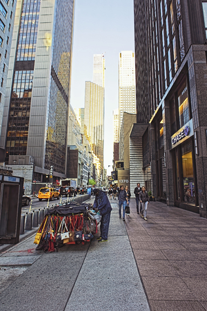 bank branch: NEW YORK, USA - MAY 07, 2015: Pedestrians walk by Chase Bank branch in New York City. JP Morgan Chase Bank is one of Big Four Banks of the US