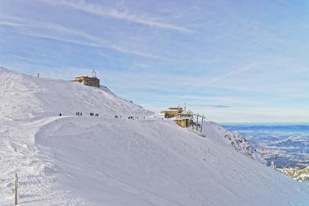 station ski: Meteorological station in Kasprowy Wierch in Zakopane in winter. Zakopane is a town in Poland in Tatra Mountains. Kasprowy Wierch is a mountain in Zakopane and is the most popular ski area in Poland