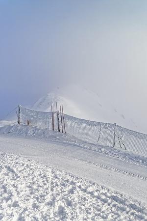 zakopane: Snow storm in Kasprowy Wierch of Zakopane in Tatra Mounts in winter. Zakopane is a town in Poland in Tatra Mountains. Kasprowy Wierch is a mount in Zakopane and the most popular ski area in Poland