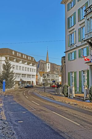 st gallen: Catholic Church in Town of Bad Ragaz. Bad Ragaz is a city in canton St. Gallen in Switzerland.  It lies over Graubunden Alps. Spa and recreation village is at end of Tamina valley