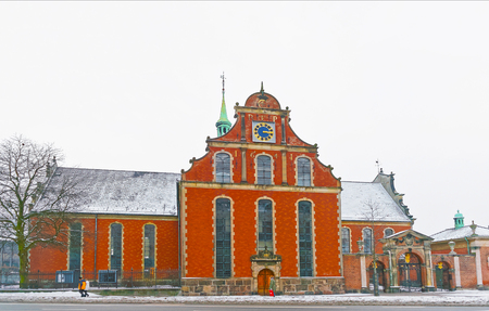 prince of denmark: Church of Holmen in winter Copenhagen. It is is a Parish church in central Copenhagen in Denmark. It is famous for having hosted the wedding between Margrethe Second of Denmark and Prince Henrik