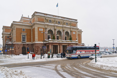 STOCKHOLM, SWEDEN - JANUARY 5, 2011: Royal Swedish Opera in winter Stockholm. Stockholm is the capital of Sweden and the most populous city in the Nordic region. Editorial