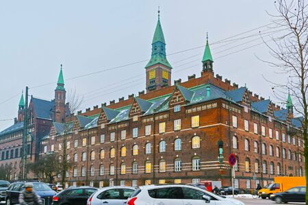 municipal court: View of Copenhagen City Hall in winter. It is the headquarters of the municipal council. The building is situated on The City Hall Square in central Copenhagen, Denmark. It is in use as the city court