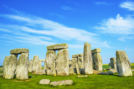 south west england: Stonehenge in Wiltshire in England. It is a prehistoric monument 8 miles north from Salisbury, in the place called Wiltshire in South West England. Stock Photo