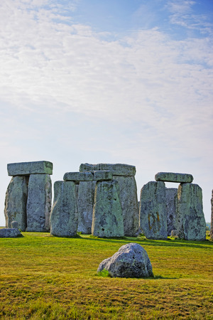 south west england: Stonehenge in Wiltshire of England. It is a prehistoric monument 8 miles north from Salisbury, in the place called Wiltshire in South West England. Stock Photo