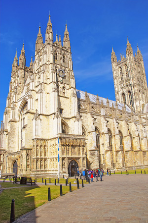 canterbury: Canterbury Cathedral in Canterbury in Kent of England. It is one of the most famous cathedrals in England. It is the Archbishop of Canterbury Cathedral.