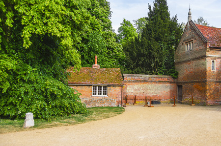 heritage protection: Houses in Backyard of Audley End House in Essex in England. It is a medieval county house. Now it is under protection of the English Heritage. Editorial