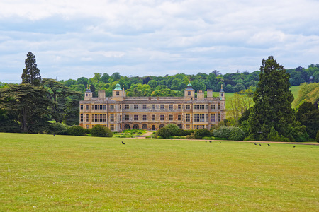 heritage protection: Audley End House and Garden Front in Essex in England. It is a medieval county house. Now it is under protection of the English Heritage. Editorial