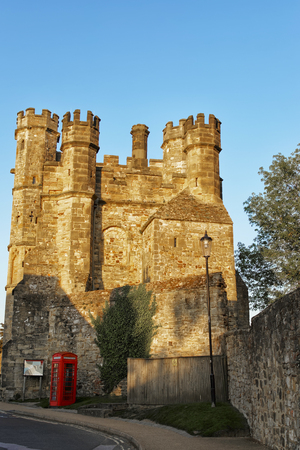 Gate house in Battle Abbey in East Sussex in England. This Benedictine abbey was built after the Battle of Hastings. Editorial