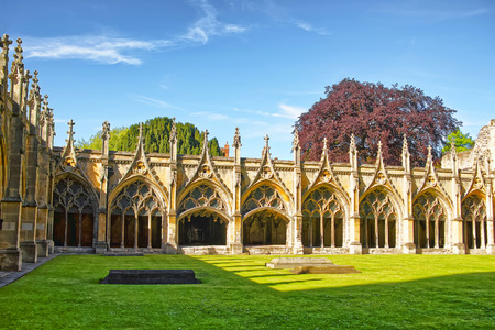 archbishop: Cloister Garden in Canterbury Cathedral in Canterbury in Kent of England. It is one of the most famous cathedrals in England. It is the Archbishop of Canterbury Cathedral.